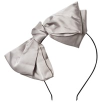 DOLLY by Le Petit Tom Big Bow Headband Silvergrey Silvergrey