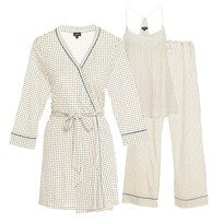 Cosabella Maternity Bella Maternity 3-Piece Pajama Set Square Jasper CANVAS SQ/JASPER