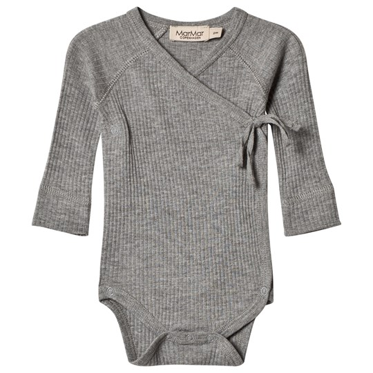 MarMar Copenhagen Long Sleeve Baby Body Mini Grey Melange Grey Melange