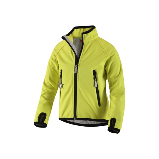 Reima Soft Shell Jacket Wallpass Li Yellow