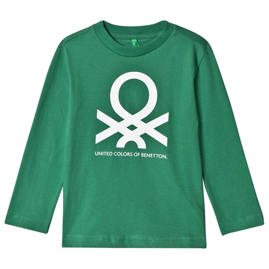 United Colors of Benetton L/S Logo T-Shirt Green Green