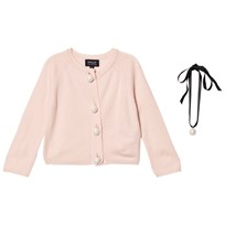 DOLLY by Le Petit Tom Pearled Up Cardigan Lightpink lightpink