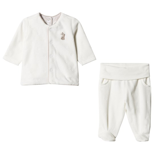 Mayoral Cream Teddy and Bunny Applique Pant and Jacket Set 42