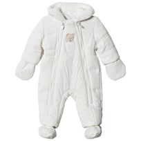 Mayoral Cream Bear Hooded Coverall with Detachable Mittens and Booties 94