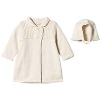Mayoral Cream Knitted Coat with Hat 26