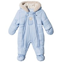 Mayoral Blue Bear Hooded Coverall with Detachable Mittens and Booties 95