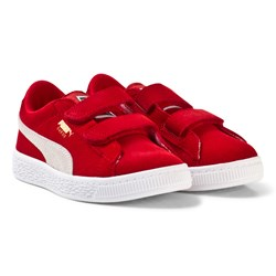Puma Suede 2-Strap Youth Sneakers Red