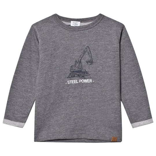 Hust&Claire Grey Sweatshirt WOOL GREY