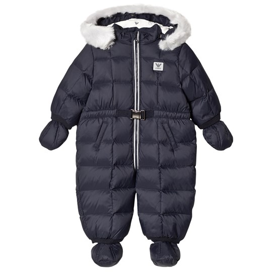 Emporio Armani Navy Padded Hooded Snowsuit with Logo 15K5
