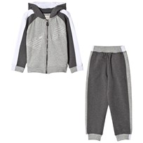 Armani Junior Grey and White Logo Tracksuit 3902