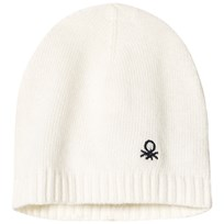 United Colors of Benetton Wool Knit Hat Cream Cream
