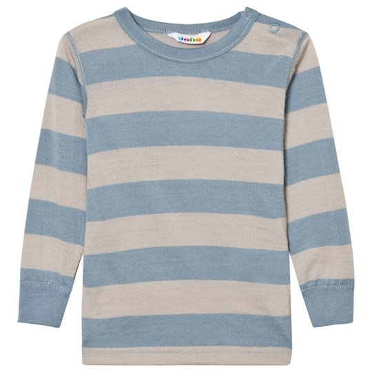 Joha Wide Striped Top Blue Blue