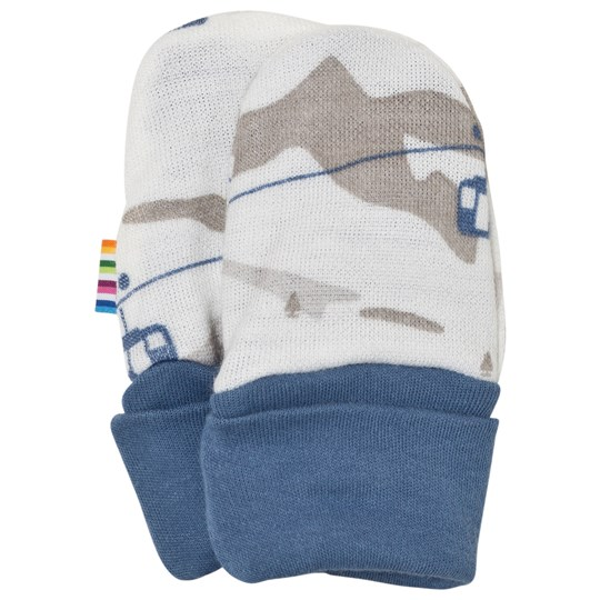 Joha Cable Car Baby Mittens Blue Blue