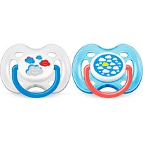 Philips Avent Napp, Mode, 0-6 mån, 2-pack, Clouds Multi