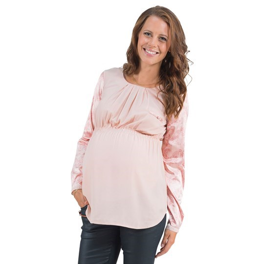 Mom2Mom Blouse Contrast Blush Pink