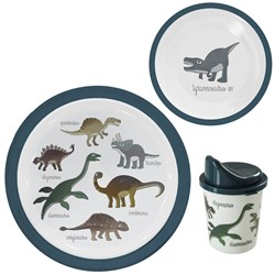 Sebra Melamine Dinner Set Dino