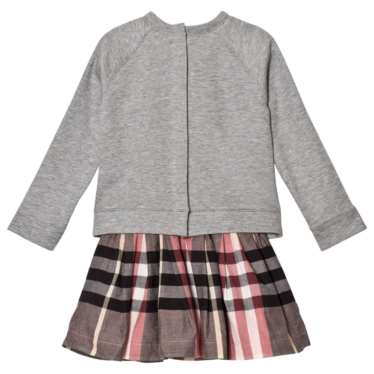 d19c5d4c5066 Burberry - Pink Francine Sweater Check Dress - Babyshop.com