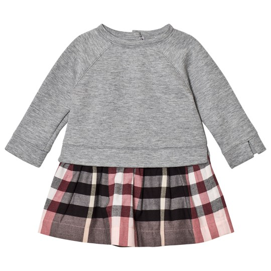 8df00d87e762 Burberry - Pink Mini Francine Sweater Check Dress - Babyshop.com