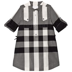 Burberry Black and White Darielle Shirt Dress