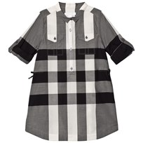 Burberry Black and White Darielle Shirt Dress NATURAL WHITE