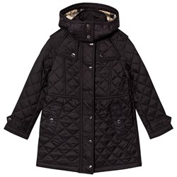 Burberry Black Quilted Foxmoore Parka