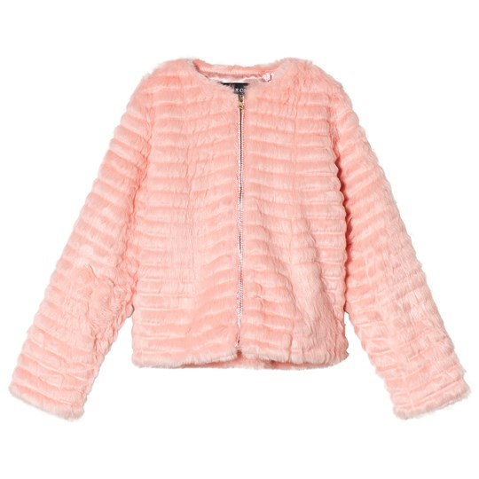 Guess Pink Textured Faux Fur Jacket E403