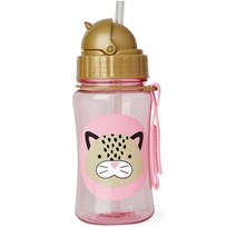 Skip Hop Zoo Straw Bottle Leopard бежевый