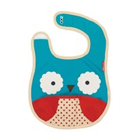 Skip Hop Zoo Tuck-Away Bib Owl Blue