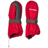 Didriksons Biggles Zip Mittens  Red Red