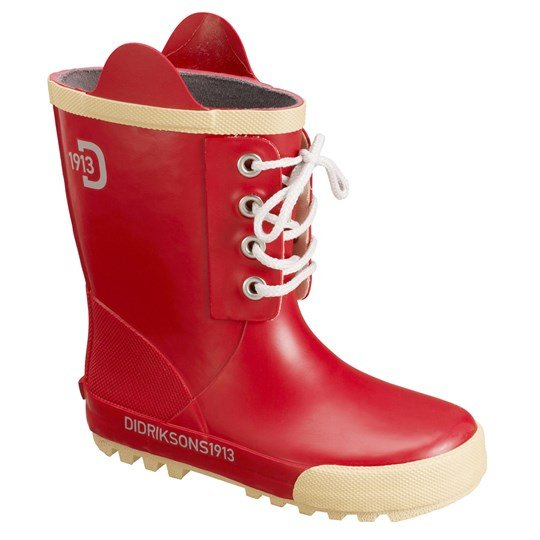 Didriksons Splashman Kid's Boots Flag Red Red