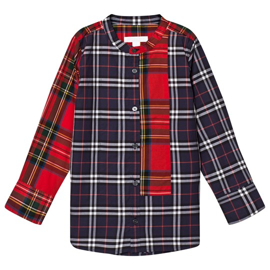 Burberry Navy and Red Multi Check Argus Shirt Navy