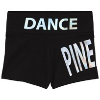 Pineapple Holographic Branded Dans Shorts Svart Black