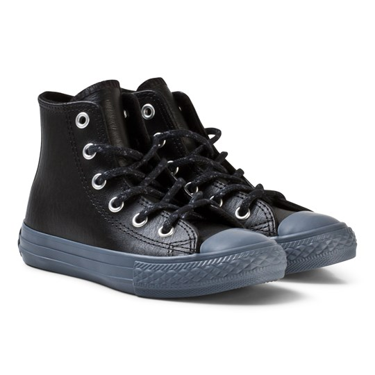 Converse Chuck Taylor All Star Leather and Thermal High Top Black BLACK/BLACK/SHARKSKIN