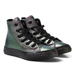 Converse Chuck Taylor All Star Iridescent Leather High Top Violet Black