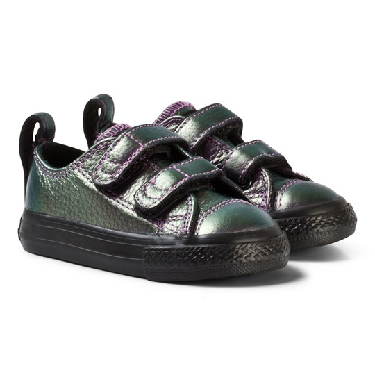 0039119d6a65 Converse Chuck Taylor All Star 2V Iridescent Leather Low Top Violet Black  VIOLET BLACK