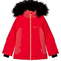 Oneill Red Felice Ski Jacket with Faux Fur Hood 3111 RED