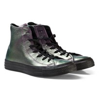 Converse Chuck Taylor All Star Iridescent Leather High Top Violet Black VIOLET/BLACK/BLACK