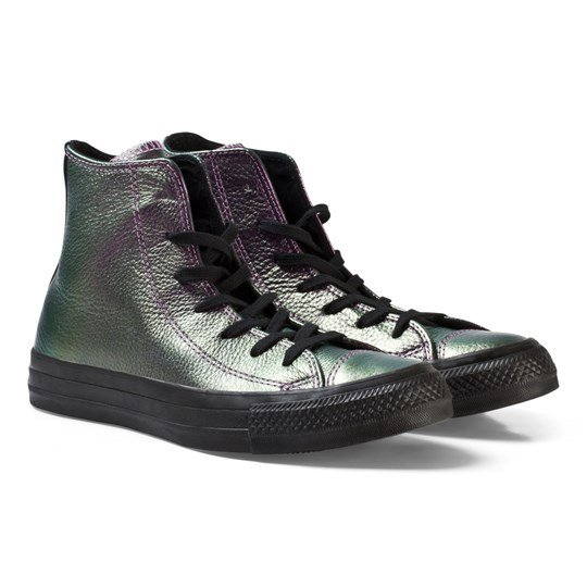 3fd3a9e46bfc1f Converse - Chuck Taylor All Star Iridescent Leather High Top Violet ...