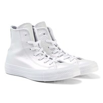 Converse Chuck Taylor All Star Iridescent Leather High Top Skor Vit WHITE/WHITE/WHITE