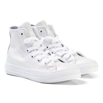 Converse Chuck Taylor All Star Iridescent Leather High Top White WHITE/WHITE/WHITE