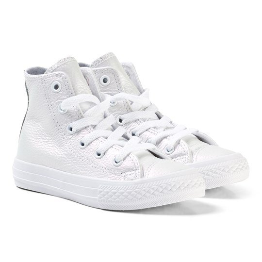 56ea6b7a0b1f Converse - Chuck Taylor All Star Iridescent Leather High Top White ...