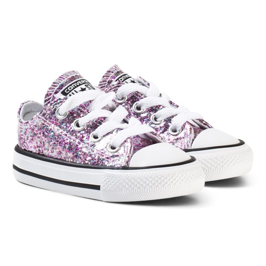 Converse Converse Chuck Taylor All Star Big Glitter Low Top Skor Frozen Lilac FROZEN LILAC/POLAR BLUE/WHITE