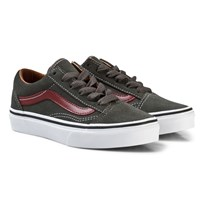 Vans Old Skool Suede Shoes Gunmetal/Madder Brown (Suede) gunmetal/madder brown