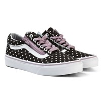 Vans Micro Heart Old Skool Zip Shoes Black/Sea Fog (Micro Heart) black/sea fog