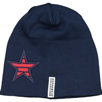 Geggamoja Star Fleece Beanie Red/Marine Blue Navy