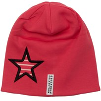 Geggamoja Star Fleece Beanie Red Pink