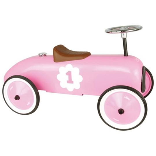 Vilac Pink Ride On Classic Car Pink