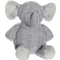 Teddykompaniet Knitted Elephant Grey