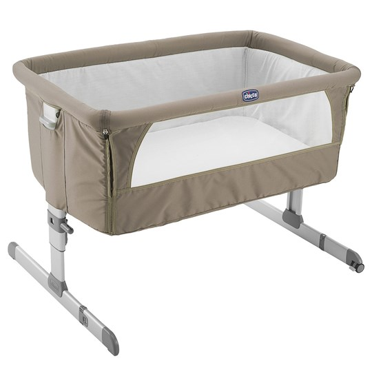 Chicco Bedside Crib, Next2me, Dove Grey