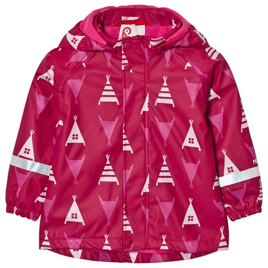 Reima Koski Raincoat Dark Berry Dark Berry